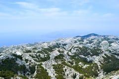 Горы Biokovo в Хорватии стоковое изображение rf