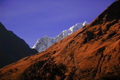 горы blanca кордильер стоковое изображение