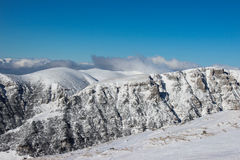 Горы Bucegi в зиме Стоковая Фотография RF