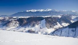 Горы Bucegi в румыне Карпатах Стоковое Изображение