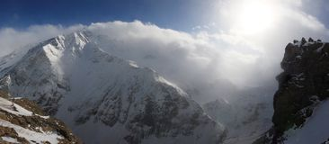 горы caucasus Стоковое Изображение