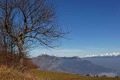 Горы Chartreuse, Монблана и Belledonne ряда стоковая фотография rf