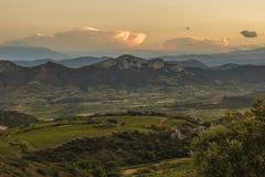 Горы Corbieres, Франция стоковое изображение