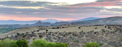 Горы Dell гранита восхода солнца, Prescott, Аризона США стоковое изображение rf