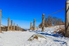 Горы Deogyusan покрыты снегом стоковые фотографии rf