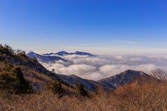 Горы Deogyusan стоковое изображение rf