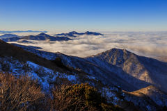 Горы Deogyusan стоковая фотография rf