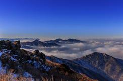 Горы Deogyusan стоковое фото rf