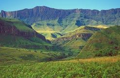 горы drakensberg стоковая фотография