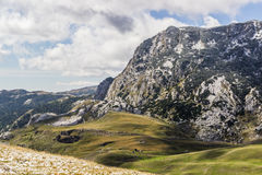 Горы Durmitor национального парка, Черногория Стоковая Фотография