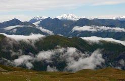 Горы Georgia Кавказа Стоковые Изображения