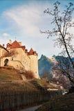 горы gruyeres замока Стоковое Фото