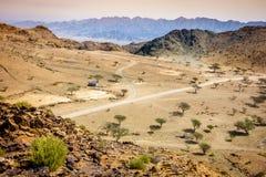 Горы Hajar Al Фуджейры стоковые фото