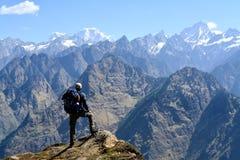 Горы Hathi Ghoda в Uttarakhand, Индии стоковые фото
