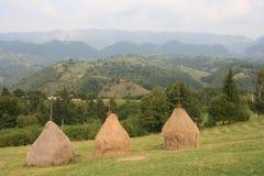 горы haystacks стоковое фото