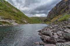Горы Hibiny, полуостров колы, Nord, лето, темные облака Стоковые Изображения