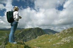 горы hiker Стоковое Изображение RF