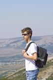 горы hiker Стоковые Фото