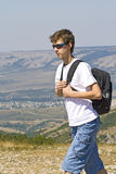 горы hiker Стоковое Фото