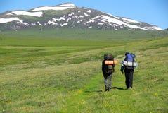 горы hikers Стоковое фото RF