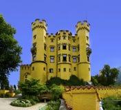 горы hohenschwangau Германии замока Баварии предпосылки alps немецкие Стоковые Фотографии RF
