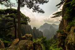 Горы Huangshan, Китай Стоковые Изображения RF