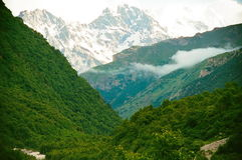 Горы kabardinibalkariya Стоковые Изображения