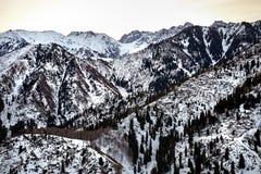 горы kazakhstan снежные Стоковое Изображение RF