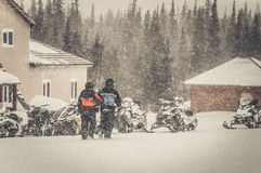 Горы Khibiny, зима 2014 Стоковые Фотографии RF