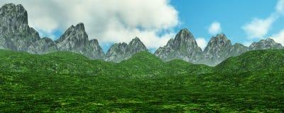 горы Lanscape перевода 3D Стоковые Фото