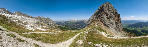Горы Leogang, Австрия Стоковое Изображение