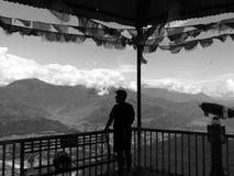 Горы Lumbini силуэта, Непал Стоковое Изображение RF