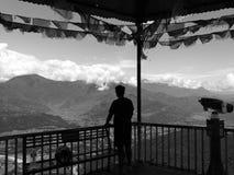 Горы Lumbini силуэта, Непал Стоковая Фотография RF