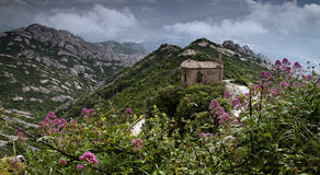 горы monserrat Стоковое Изображение RF