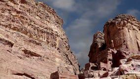 Горы Petra, Джордан, Ближний Восток сток-видео