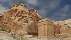 Горы Petra, Джордан, Ближний Восток акции видеоматериалы