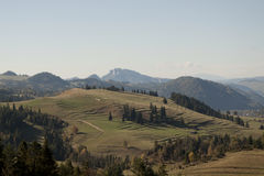 Горы Pieniny во время осени Стоковые Фото