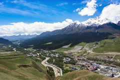 Горы Qilan стоковое изображение rf