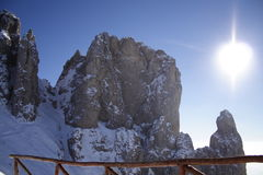 горы s leonardo Стоковая Фотография