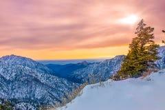 Горы San Gabriel, Калифорния Стоковое фото RF