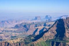 Горы Simien в Эфиопии Стоковое Изображение