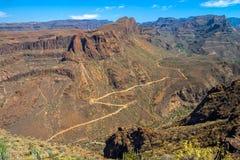 Горы SWpectacular скалистые в Gran Canaria, Испании Стоковое Фото