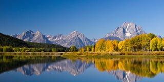 Горы Teton в осени Стоковая Фотография