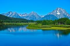 Горы Teton и Река Снейк Стоковые Изображения RF