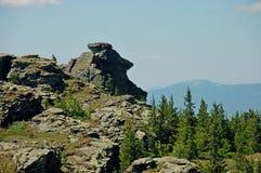 Горы Ural летом стоковое изображение rf