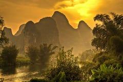 Горы Yangshuo, Китай Стоковые Фотографии RF
