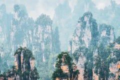 Горы Zhangjiajie, Китай стоковое фото rf