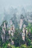 Горы Zhangjiajie, Китай стоковая фотография rf