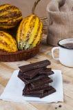 Горький шоколад Стоковая Фотография