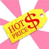 Горячая бирка продажи цены иллюстрация штока